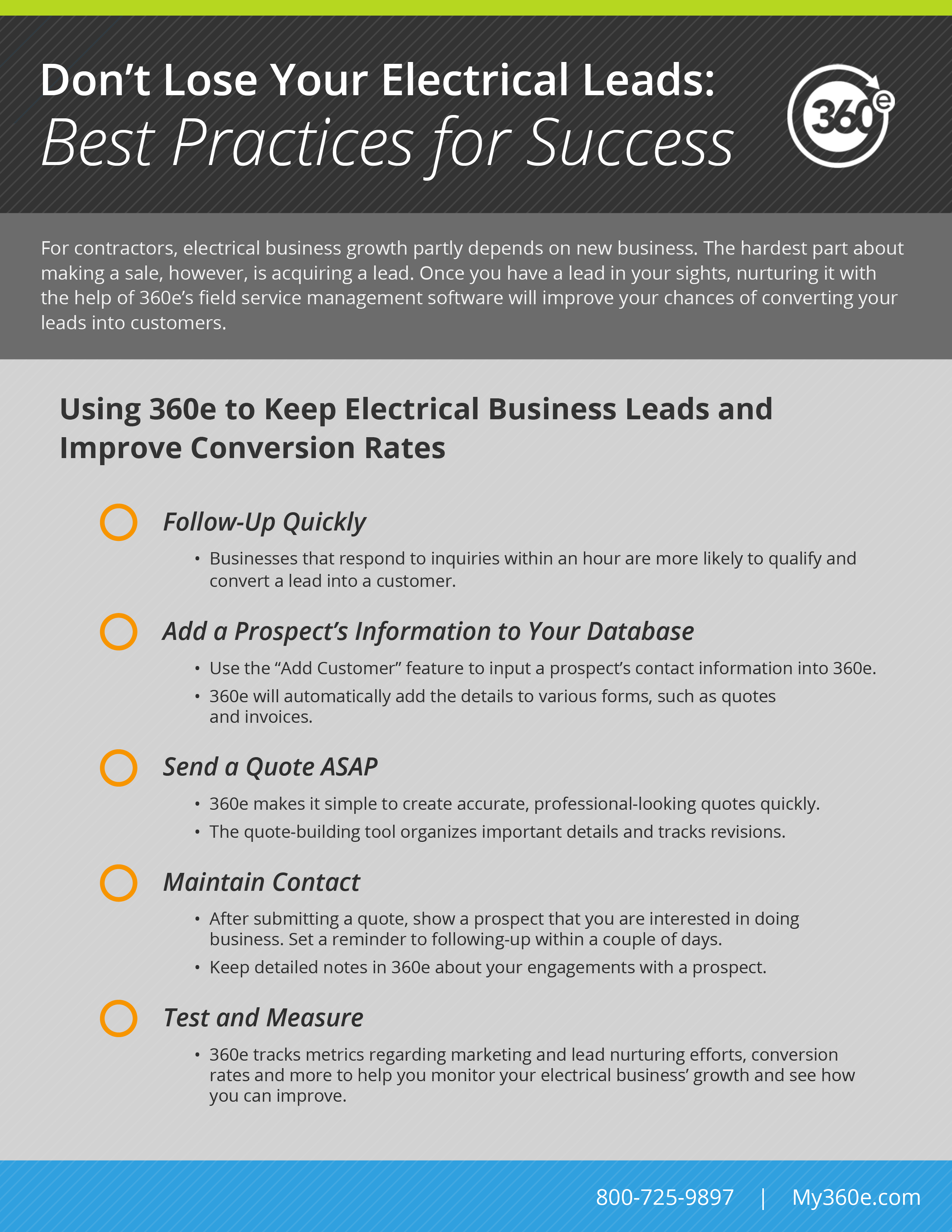Lead Ins For Quotes Don't Lose Your Electrical Leadsbest Practices For Success  360E